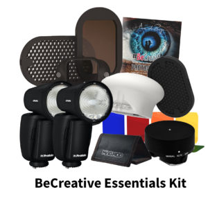 Becreative essentails kit met twee profoto flisters en magmod kits