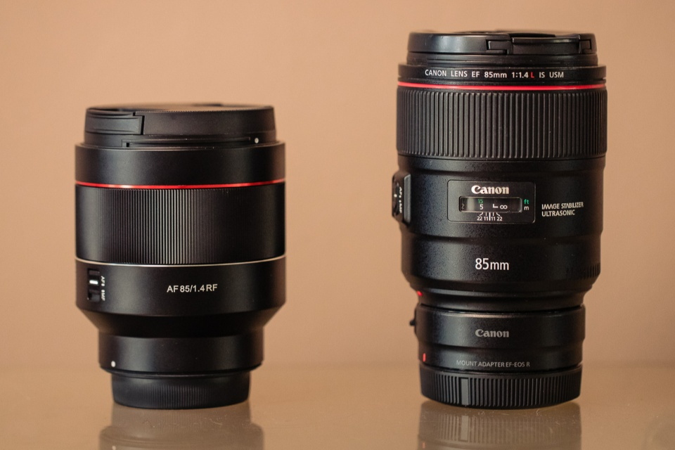 Canon EF 85mm f/1.4L IS USM VS Samyang AF 85mm f/1.4 RF